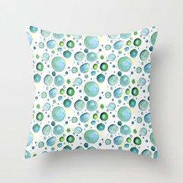 Bubbles Watercolor Throw Pillow