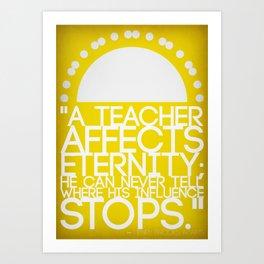 A Teacher Art Print