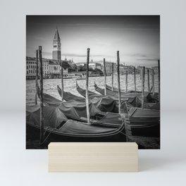 VENICE Grand Canal and St Mark's Campanile   Monochrome Mini Art Print