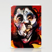 boxing Stationery Cards featuring Boxing Bacon by Genco Demirer