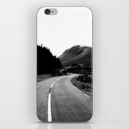 Road through the Glen - B/W iPhone Skin