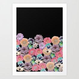 Pink Rose Floral Art Print