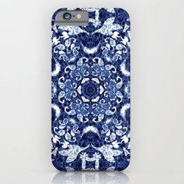Boho Blue Medallion iPhone Case
