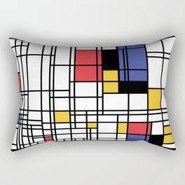 Mondrian Shape Art Rectangular Pillow