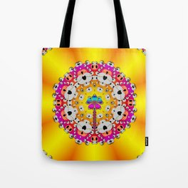Fantasy flower in tones Tote Bag