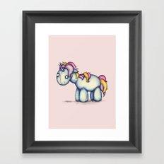 Sad Unicorn Framed Art Print