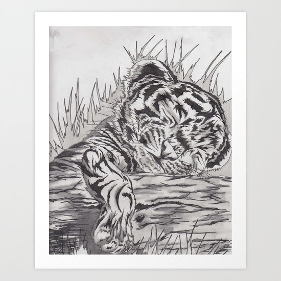 cute tiger Art Print