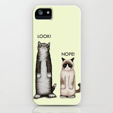 Look!-Nope iPhone (5, 5s) Slim Case