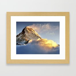 Faith Poster Framed Art Print