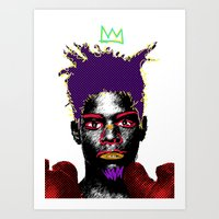 basquiat Art Prints featuring Basquiat by Kibwe Maono