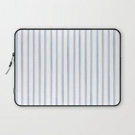 Blue Watercolour Stripes Laptop Sleeve