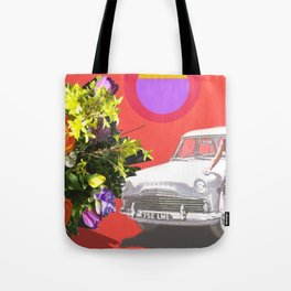 The Unimpressed Tourist (red version) Tote Bag