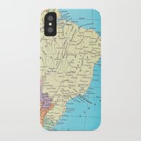 brazil iPhone & iPod Cases featuring Brazil by inourgardentoo