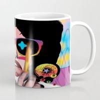 hot fuzz Mugs featuring Hot! by Pierre-Paul Pariseau