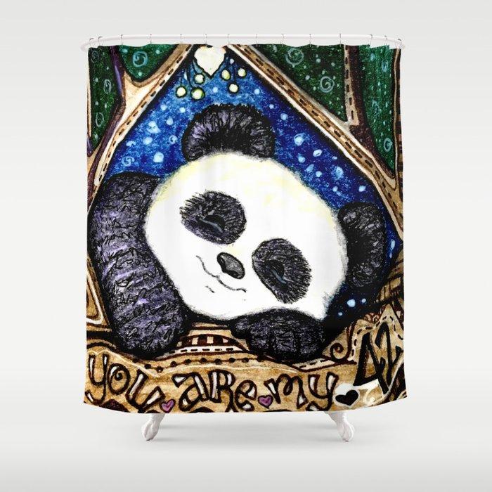 My Sleepy Panda 42 Shower Curtain