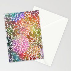 Floral Abstract 6 Stationery Cards