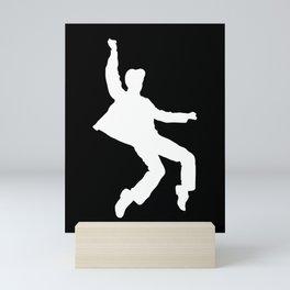 White Elvis Mini Art Print