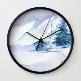 Winter Landscape 7 Wall Clock