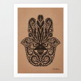 Hamsa - Fatima Hand Art Print