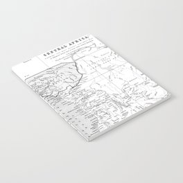 Black And White Vintage Map Of Africa Notebook