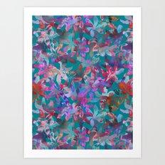 Tropical Serenade - Aqua Art Print