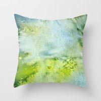 acid Throw Pillows featuring Acid by Cro_Ki