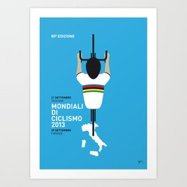 MY Mondiali di Ciclismo MINIMAL POSTER - 2013 Art Print