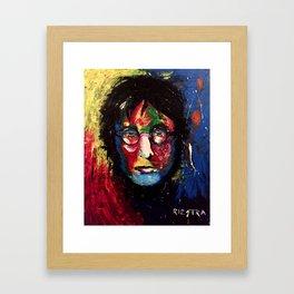 JOHN ORIGINAL POP COLOR PORTRAIT Framed Art Print