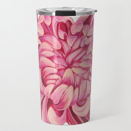 Pink Chrysanthemum Travel Mug