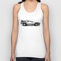 delorean Tank Tops featuring Delorean Low poly by Angel Decuir