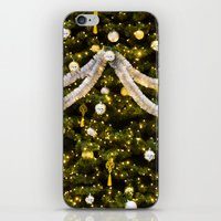 christmas tree iPhone & iPod Skins featuring Christmas Tree by Pati Designs
