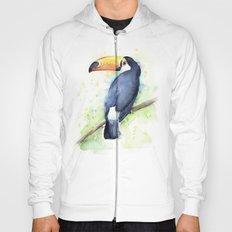 Toucan Tropical Bird Watercolor Hoody