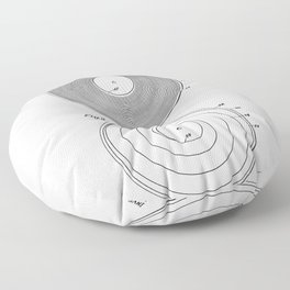 Phonograph Record Vintage Patent White Art Print Floor Pillow
