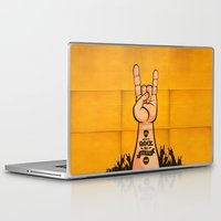 rock and roll Laptop & iPad Skins featuring Rock & Roll by Rodrigo Molina