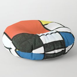 Composition With Red, Yellow, Blue, And Black - Piet Mondrian Floor Pillow