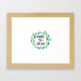 Rivers and Roads Framed Art Print