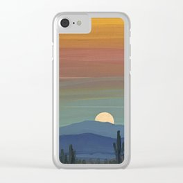 Arizona Moonrise Clear iPhone Case