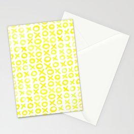 Xoxo valentine's day - yellow Stationery Cards