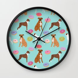 Boxer donuts cute gifts for pure breed dog lover Boxers dog owners Wall Clock