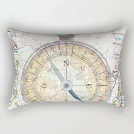 Compass & Map Rectangular Pillow