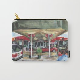 Passing a Palm Beach gas station on a warm winter's afternoon Carry-All Pouch