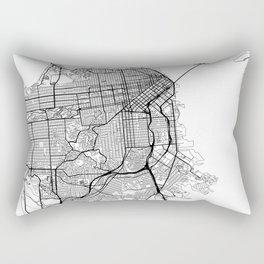San Francisco Map White Rectangular Pillow