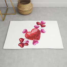 VALENTINE'S DAY RED AND PINK Rug