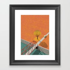 Autumn sunshine Framed Art Print