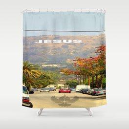 Make Jesus Famous Shower Curtain