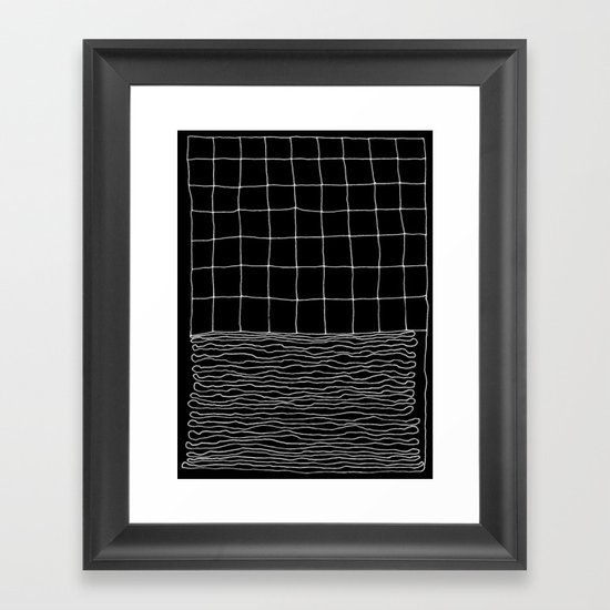 Hand Drawn Grid Framed Art Print