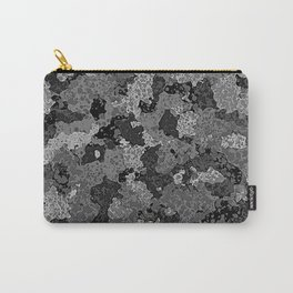Gray Abstract Camouflage Carry-All Pouch