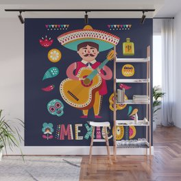 Man with Guitar – Mexico Wall Mural