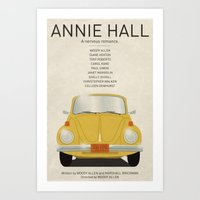 annie hall Art Prints featuring Annie Hall tribute poster by kinographics