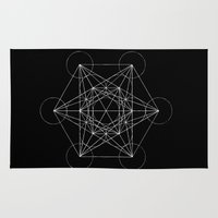 sacred geometry Area & Throw Rugs featuring Sacred Geometry Print 4 by poindexterity